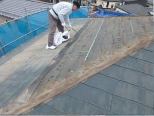屋根仕上げ材コロニアルの撤去