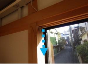 和室サッシ枠からの雨漏り