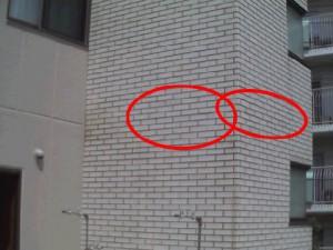 ALCタイル貼り下の目地可視画像