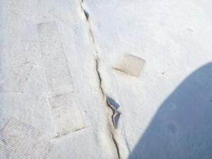 屋上防水ひび割れ