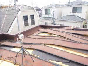 屋根板金撤去