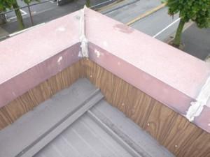 笠木板金からの雨漏り