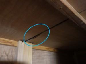 天袋天井からの雨漏り
