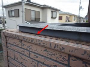 笠木と外壁サイディング増し貼り
