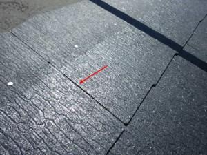スレート瓦の縦の繋ぎ