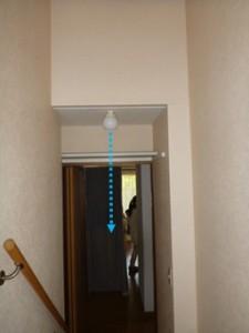 照明器具からの雨漏り