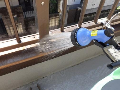 笠木部散水調査