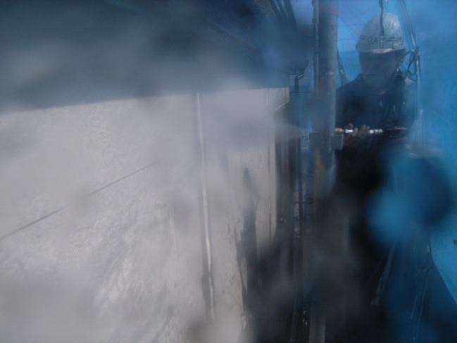外壁の高圧水洗浄