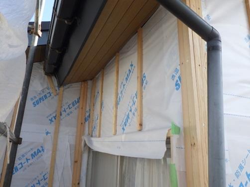 外壁透湿防水シート貼り